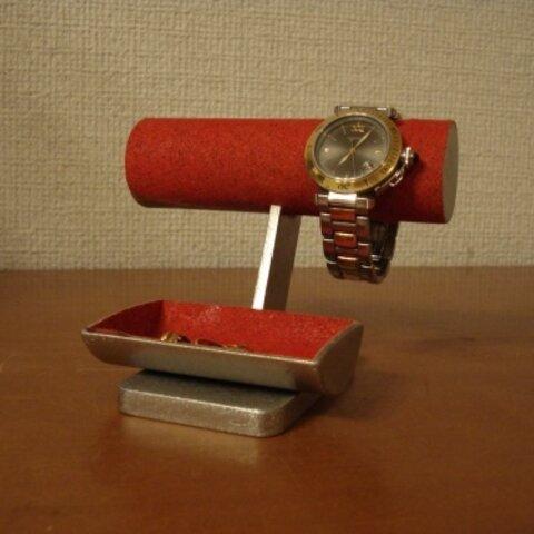 時計 飾る レディース!女性用レッド丸パイプ腕時計スタンド ak-design No.131108
