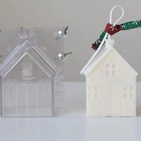 1p Nart Candle クリスマス別荘キャビンルームのモールド アクリルモールド キャンドルモールド クリスマス 別荘