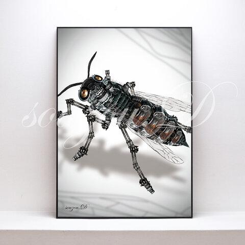 A3グラフィックアートポスター「bee02」