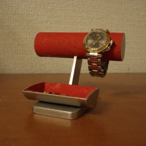 母の日ギフトに レディース!女性用レッド丸パイプ腕時計スタンド ak-design No.131108