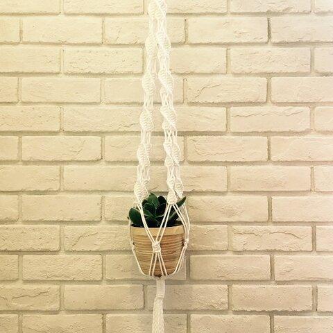 マクラメ編み プラントハンガー