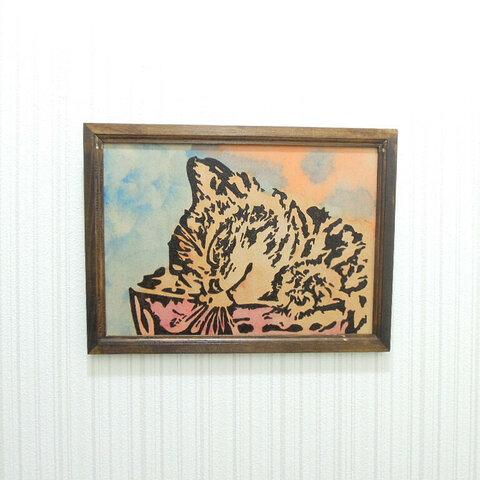 猫の壁掛け1