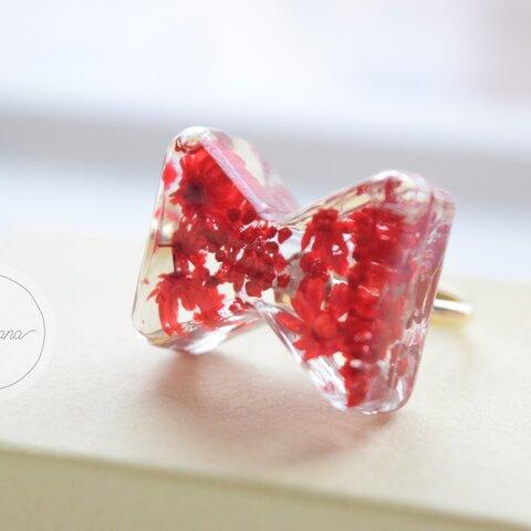 赤りぼんのリング