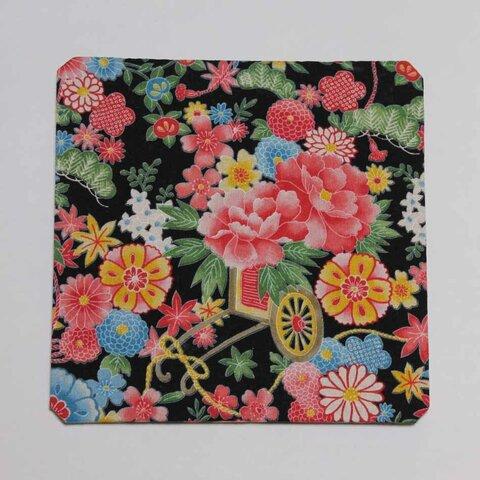 使いやすい!マウスパッド・浴衣のような花柄・正方形