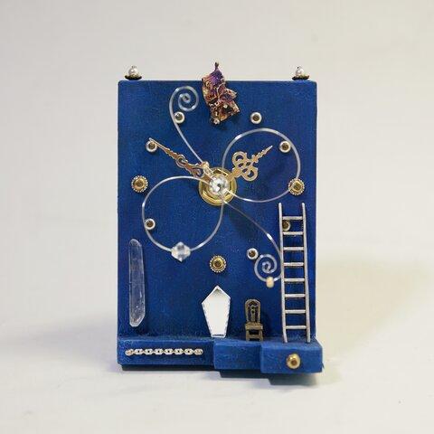 椅子のある置時計(一品物)Blue