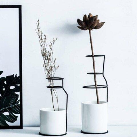 モノトーン 北欧風 花瓶