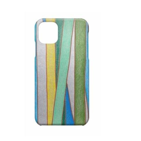 グレー アートなスマホケース iPhoneケース 手描きデザイン 選べるカラー クールな竹柄