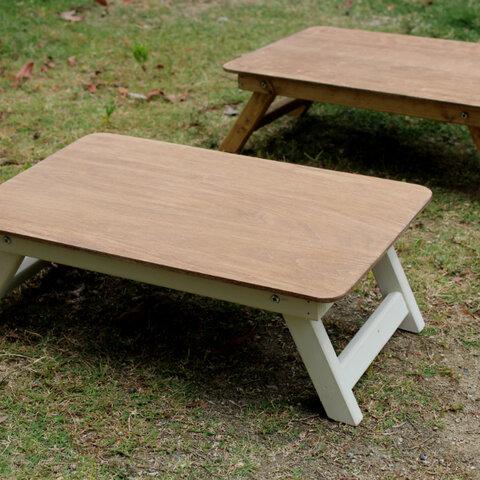 折りたたみミニテーブルWhite アウトドア キャンプ フォールディングテーブル