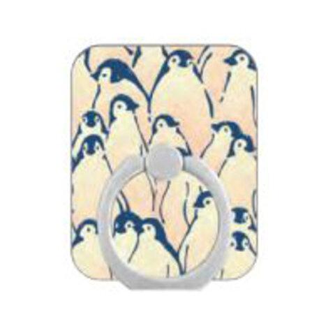 スマホリング【ペンギンの群れ】