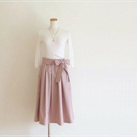 さくら色* リボン付きギャザースカート