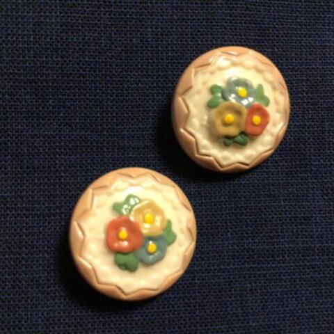 フランス小花ボタン 2個セット