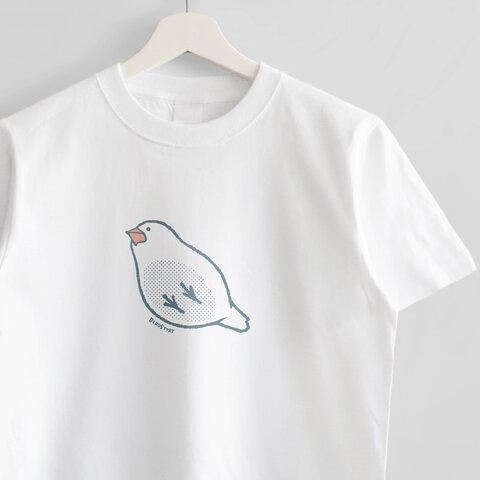 Tシャツ(したから文鳥)