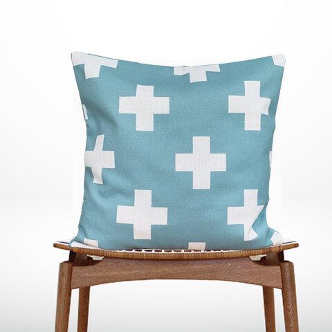森のクッション +Design back light blue -ヒノキの香り-