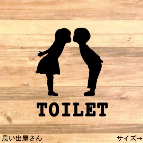 【toilet・restroom・diy】キュートなトイレサインステッカーシール【トイレマーク・トイレシール・レストルーム】