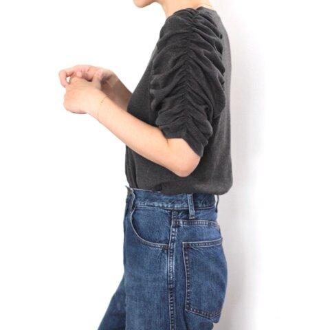 形にこだわった ブッファンスリーブ Tシャツ(ギャザー袖)【サイズ・色展開有り】