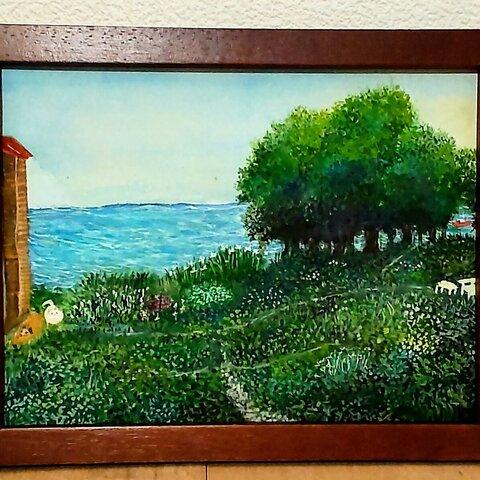 海の見える庭(原画)