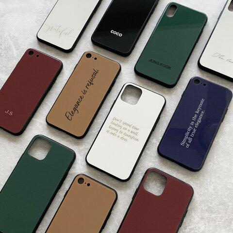 シンプルカラー【BASIC】スマホケース オーダーメイドで名入れOK♪iPhone各種対応♪カラフルオリジナルスマホケース iPhoneケース 文字入れ対応 iPhone12シリーズ対応