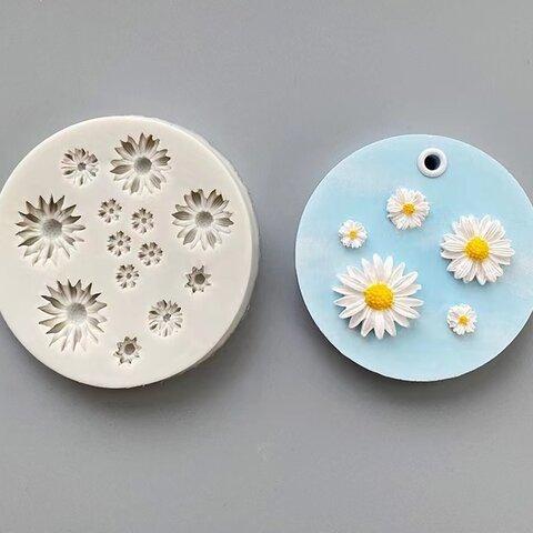 1p Nart Candle 可愛いデイジー花のモールド シリコンモールド キャンドルモールド デイジー 花