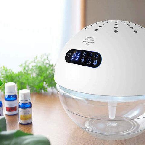 【名入れ】風邪対策やウイルス対策、花粉症対策、カビ対策になるスグレモノ エアーフレッシュナー UV ホワイト