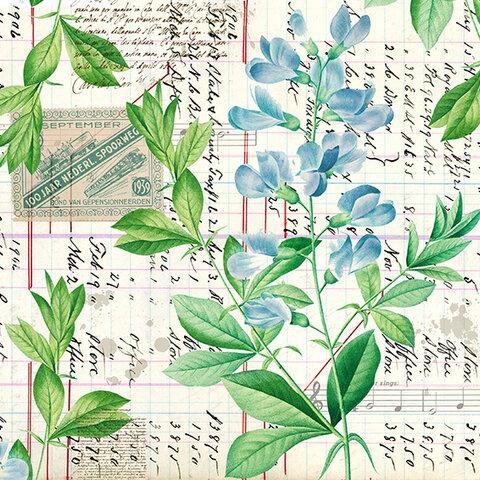 デザインペーパーセットBlue Flower(商品No.1)