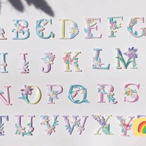 301アルファベットアイロンシール両方とも使えるワッペン 男の子 女の子入園