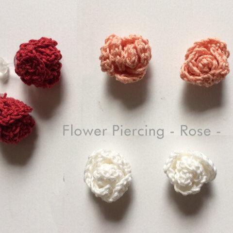 Flowerピアス-Rose