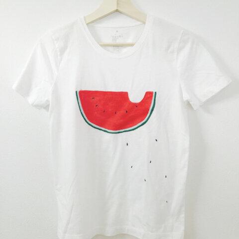 手描き大人Tシャツ すいか【再販】