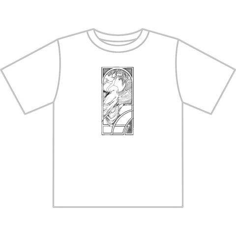 ミュシャ風Tシャツ Sサイズ