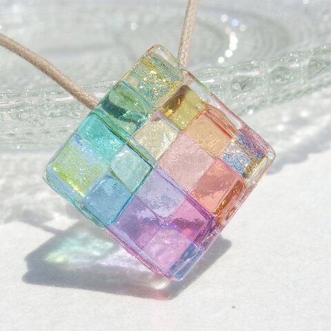 ≪特集掲載≫【Special】幸せガラス『しあわせ【幸】』ネックレス【大きさ選べます】【紐の色、長さ選べます】【受注制作】