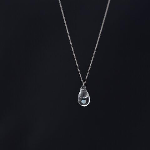 moonアロマネックレス しずく( SV925ニッケルフリーロジウムメッキ )