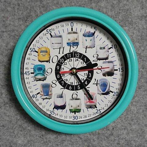新幹線 24時間表記入り 掛け時計