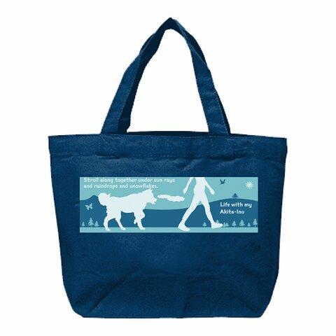 Walking with dogs 12oz キャンバストートバッグ ミッドナイトブルー 8種