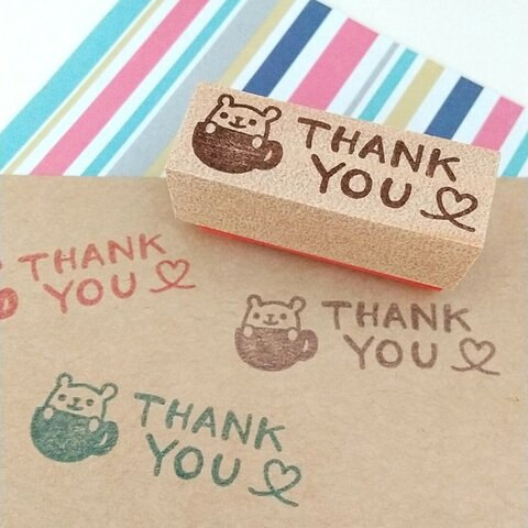 THANK YOUはんこ(カップくま)