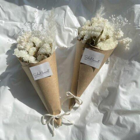 ドライフラワー ホワイトブーケ 花束 プレゼント 結婚式