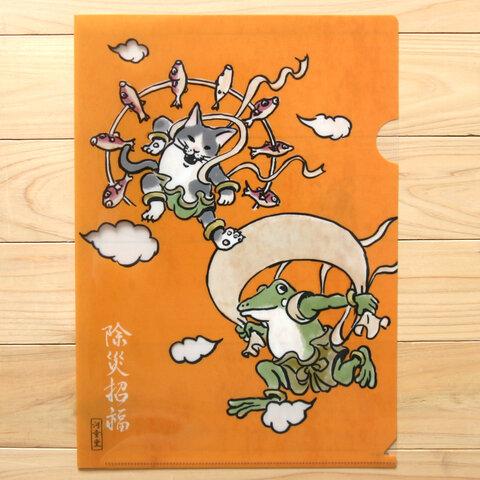 クリアファイル 風神雷神図(A4)
