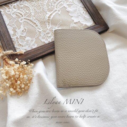 「受注生産」人気デザイン ベージュ トゴレザー 二つ折り財布 極薄 本革 ソフトレザー スリムウォレット