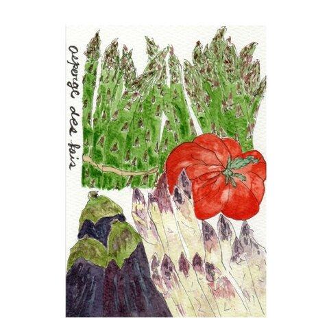 水彩画☆春の野菜