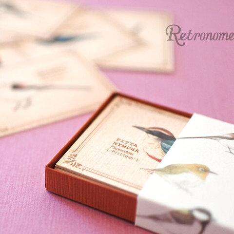 野鳥たちの小さなメッセージカードBOX