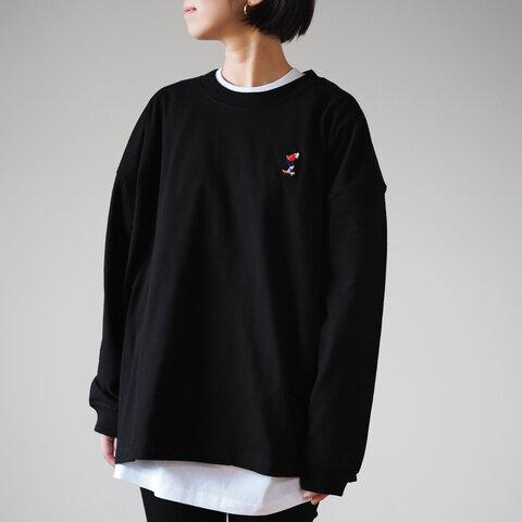 ビッグシルエット Grandpa L/S TEE ブラック(ロンT 長袖)
