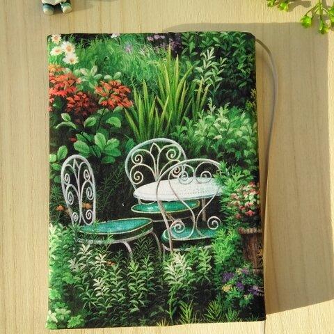 A5ソフトサイズのブックカバー/ガーデン