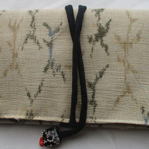 5888 綿の着物で作った和風財布・ポーチ #送料無料
