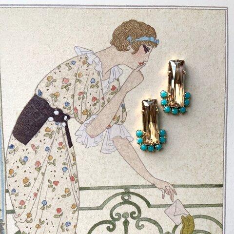 champagne gold pierce / earring