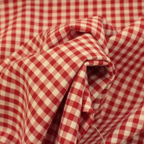 ギンガムチェック #204 赤色、110㎝幅×50㎝