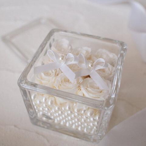 宝石箱のようなリングピロー☆ホワイト☆
