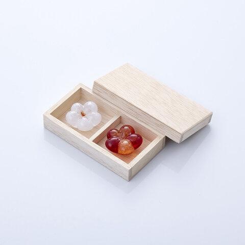 《木箱入り》めでたい梅箸置き 紅白セット 〜結婚祝いやお正月にも〜