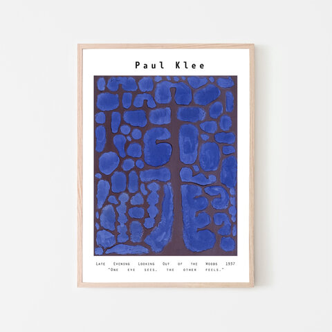 """Paul Klee """"Late Evening Looking Out of the Woods"""" / ポスター パウルクレー"""