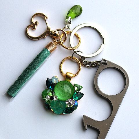 カボスグリーン・衛生フックキーホルダー(緑)