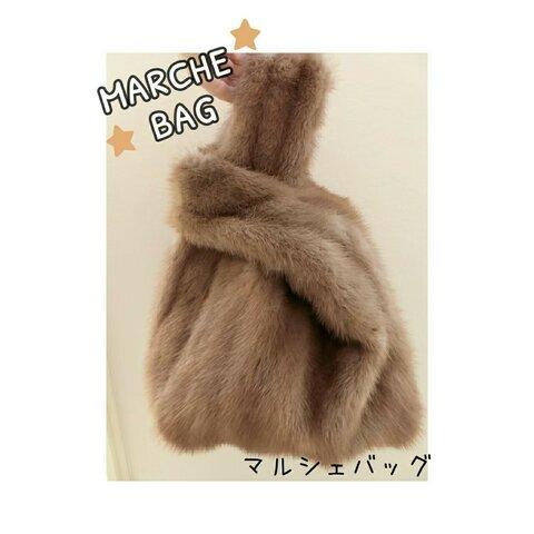 【ミンク】リアルファー マルシェバック a-smile fur