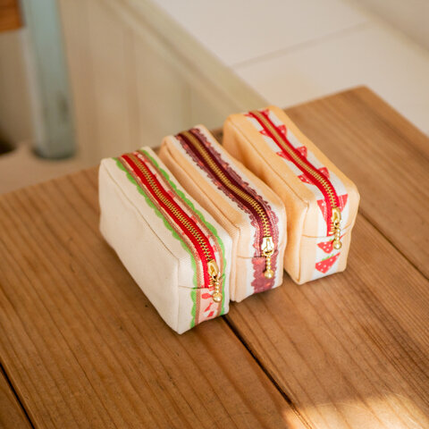 四角のサンドイッチポーチ ver.2