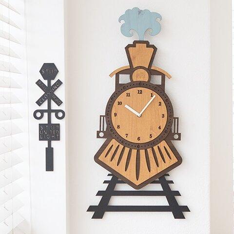 【壁掛け時計 ウォールクロック】 TRAIN TRIP(蒸気機関車)